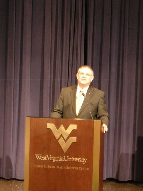 """These moments come once in a lifetime,"" beamed WVU Chancellor for Health Sciences Christopher Colenda on announcing the grant."