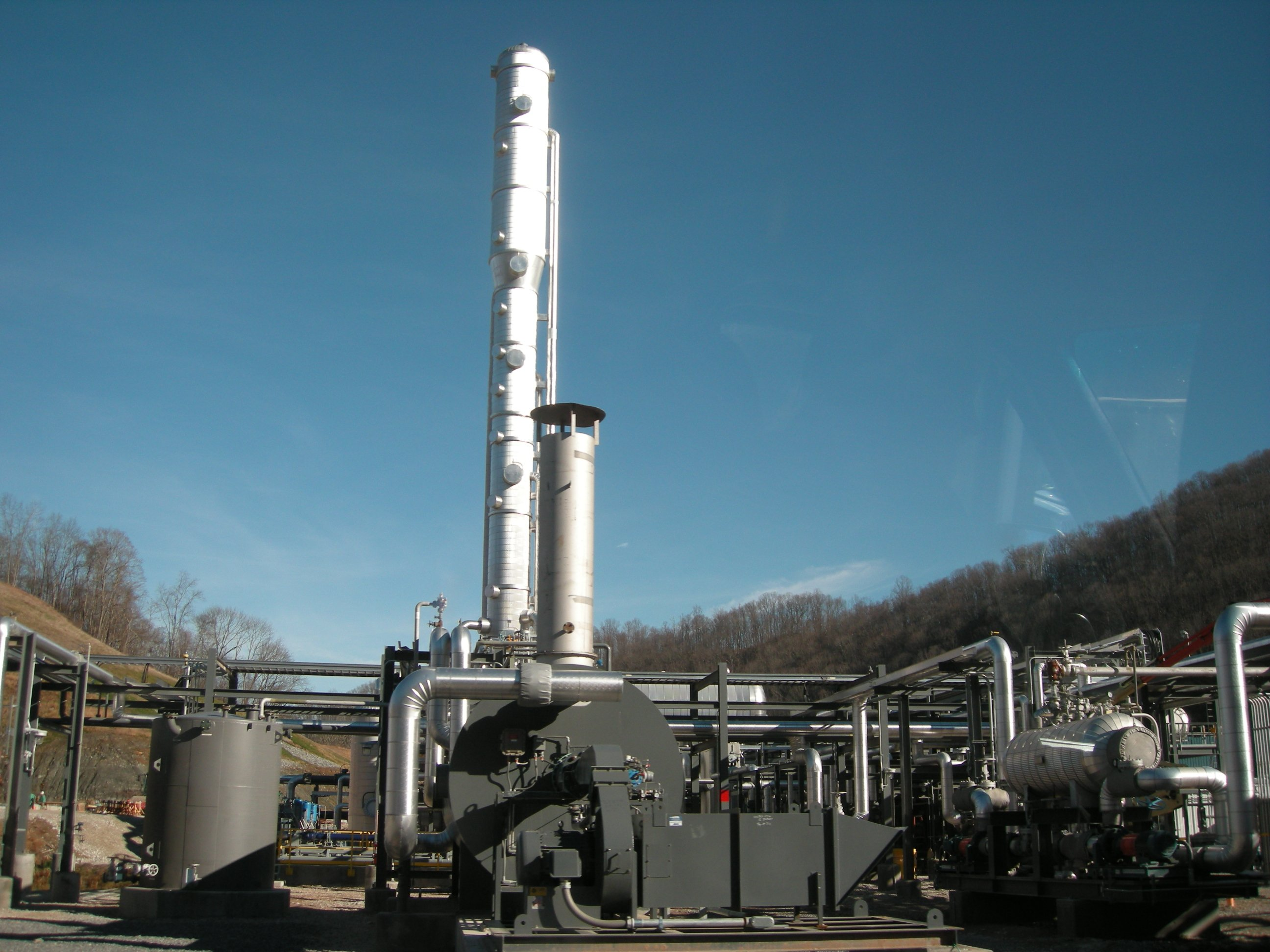 MarkWest's new Sherwood I natural gas processing plant near West Union in Doddridge County.