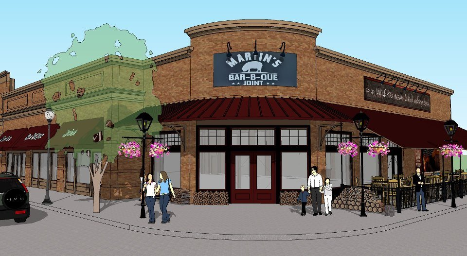 Artists rendering courtesy of Martin's BBQ Joint Facebook page