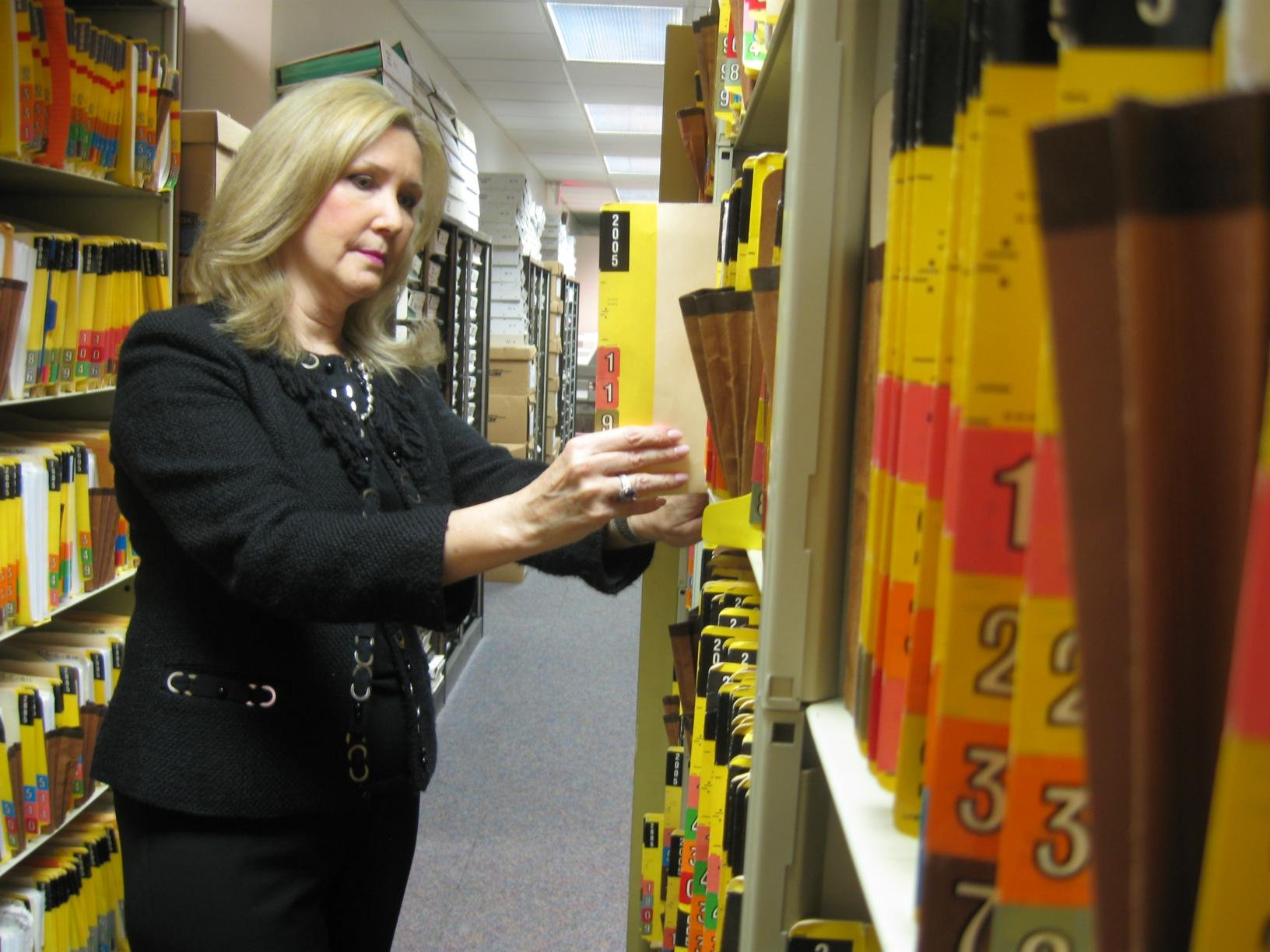 Kanawha County circuit clerk Cathy Gatson said the courthouse is quickly running out of space for record storage.