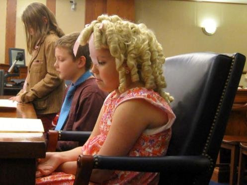 Goldie Locks, Matti Rawlings, sits with her counsel, Justin Webster.