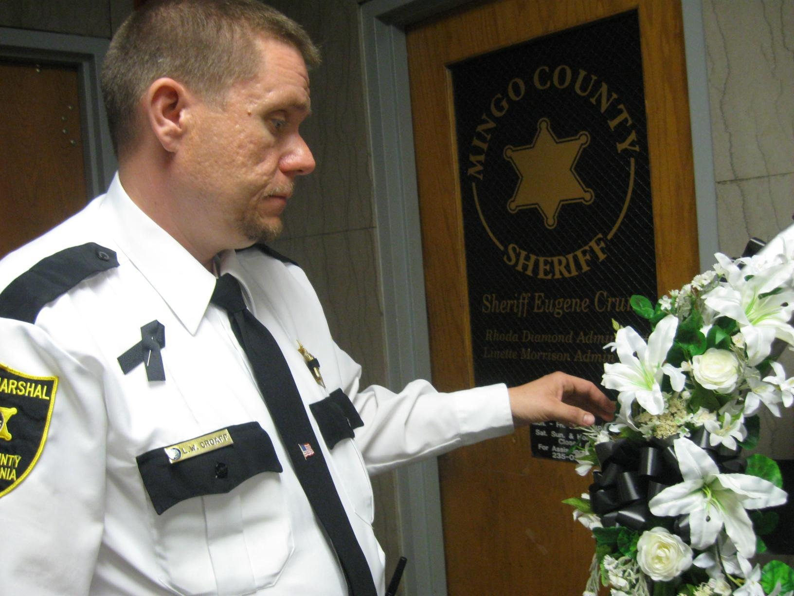 Larry Croaff, a bailiff at the Mingo County courthouse, knew Sheriff Eugene Crum for 20 years.