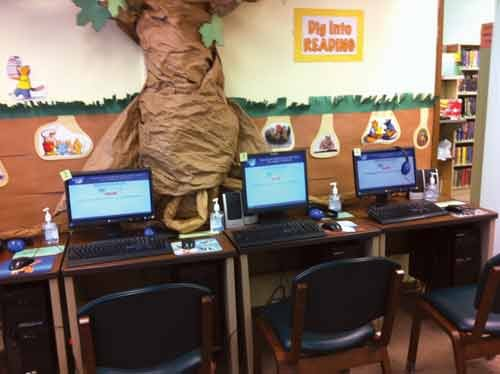 Computer terminals at the Doddridge County Library branch in West Union are available for patrons.
