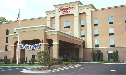 Photo by James E. Casto. The Hampton Inn joins the Marriott Towneplace Suites at KineticPark.