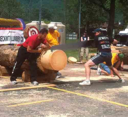 Photo courtesy of The Webster Co. Woodchopping Festival