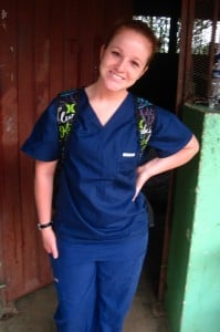 West Liberty University senior Nicole Baker while on a recent mission trip to Honduras. Courtesy: WLU