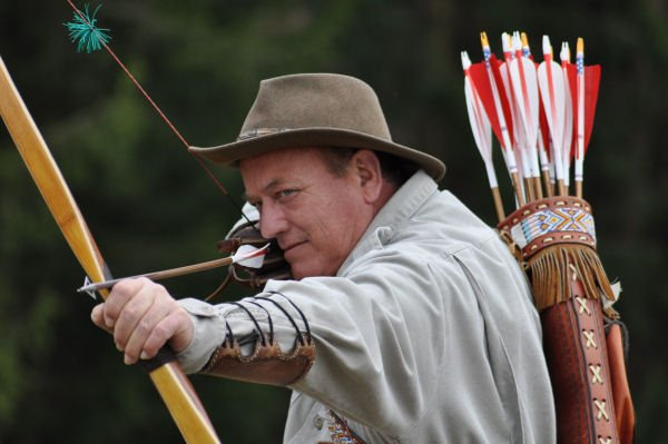 Bow and arrow expert Bryan Ferguson is scheduled to bring his popular archery exhibition to Lewis County this weekend.
