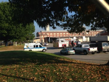 Emergency crews at Clearon Corp. in South Charleston, WV following a chemical emergency.
