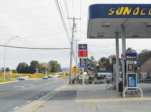 Jimmy's Sunoco on Mileground Road is 50 yards from the new roundabout in Morgantown.