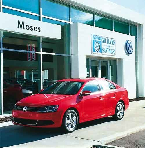Moses VW of Huntington moved into new quarters two years ago.