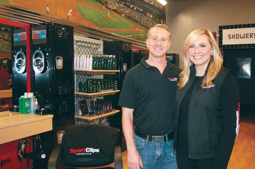 Franchise owners Ryan and Amanda Donovan have brought the sports-themed barber experience of Sport Clips to West Virginia, opening their first store Oct. 4 in South Charleston.