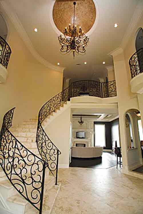 The two-story foyer in The Lofts At The Renaissance offers a view of the restored interior.