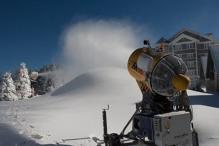 Snowshoe is busy making snow this week.