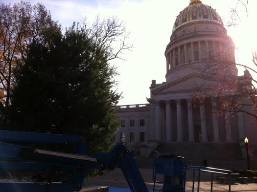 Preparations are underway for holiday celebrations at the West Virginia Capitol Complex.