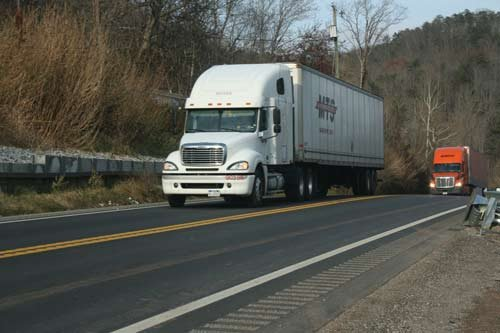 Commercial trucks and cars still share a 14.6 mile, two-lane stretch on Route 35.