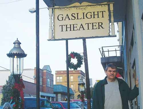 Photo courtesy of Terry Wiley. Terry Wiley, owner of the Gaslight Theater and other Sistersville businesses, is launching an entertainment series in March in hopes of revitalizing the town's entertainment offerings.