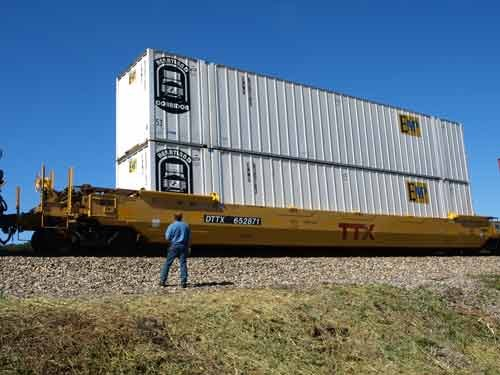JIM ROSS / The State Journal.East Coast ports are improving their harbors to accept larger ships and both CSX and Norfolk Southern have made improvements to accommodate rail cars carrying double-stacked cargo containers.