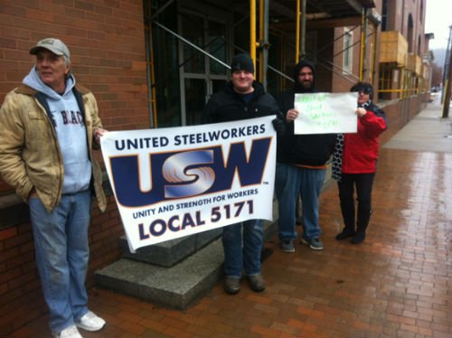 Members of the local union lobbied the PSC in Charleston in December to lower Felman's electricity rates.