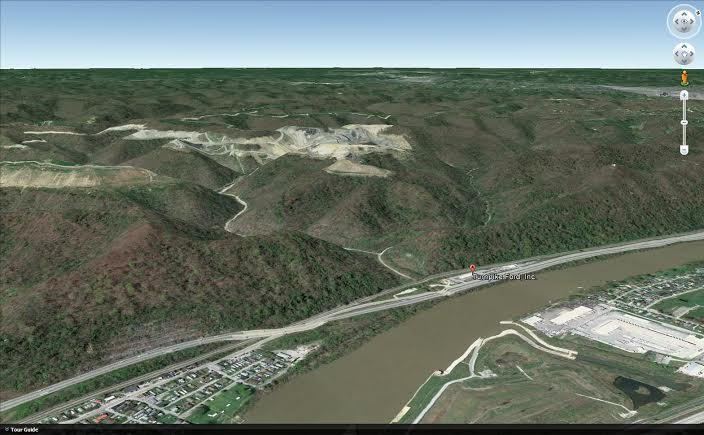 Google  Earth image of the search area.