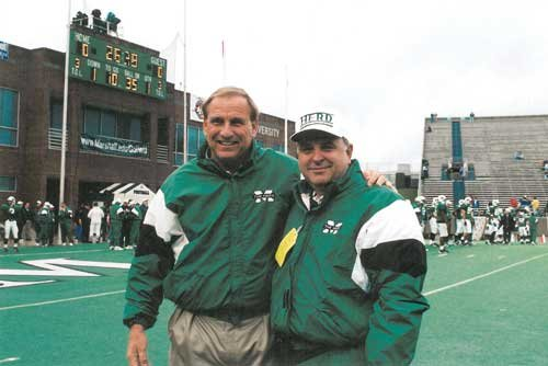 Both White and his wife attended Marshall University, and White still supports the school and its athletics.