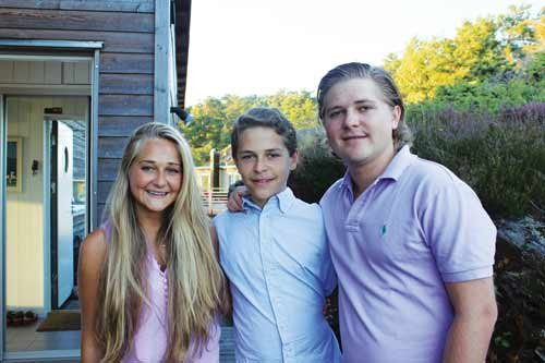 Baer's children, who are bilingual, spend summers in Sweden.
