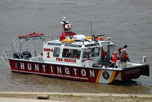 The Huntington Fire Department's new firefighting vessel is named in honor of two firefighters who died while trying to save three boys on the Ohio River in 1948.