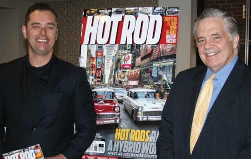 Jeff Dahlin, publisher of Hot Rod Magazine and Danny Jones, mayor of Charleston, were on hand March 5 at the Four Points by Sheraton hotel to announce a Hot Rod Power Tour stop coming to Charleston June 9.