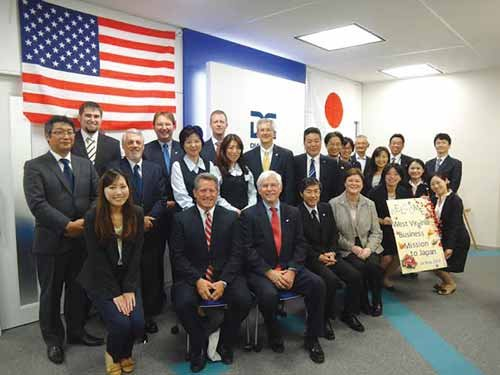 Photo courtesy of Keith Burdette: West Virginia Secretary of Commerce Keith Burdette and the WV Trade Delegation met with Diamond Electric during their trip to Japan May 9-22.