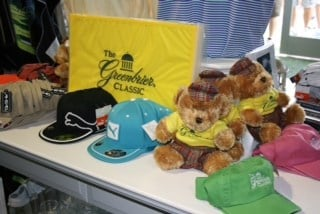 A variety of official Greenbrier Classic and PGA TOUR merchandise and souvenirs is available at several locations on The Old White TPC course