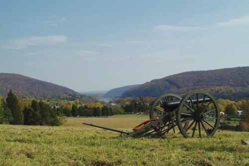 Photo courtesy of the National Park Service. The Harpers Ferry area is full of history. This view is from Bolivar Heights.