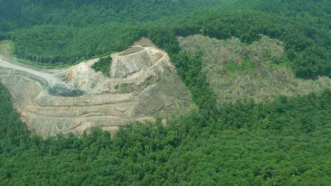 In their complaint, OVEC and the Kanawha Forest Coalition provided June 16 flyover photos of the mine site.