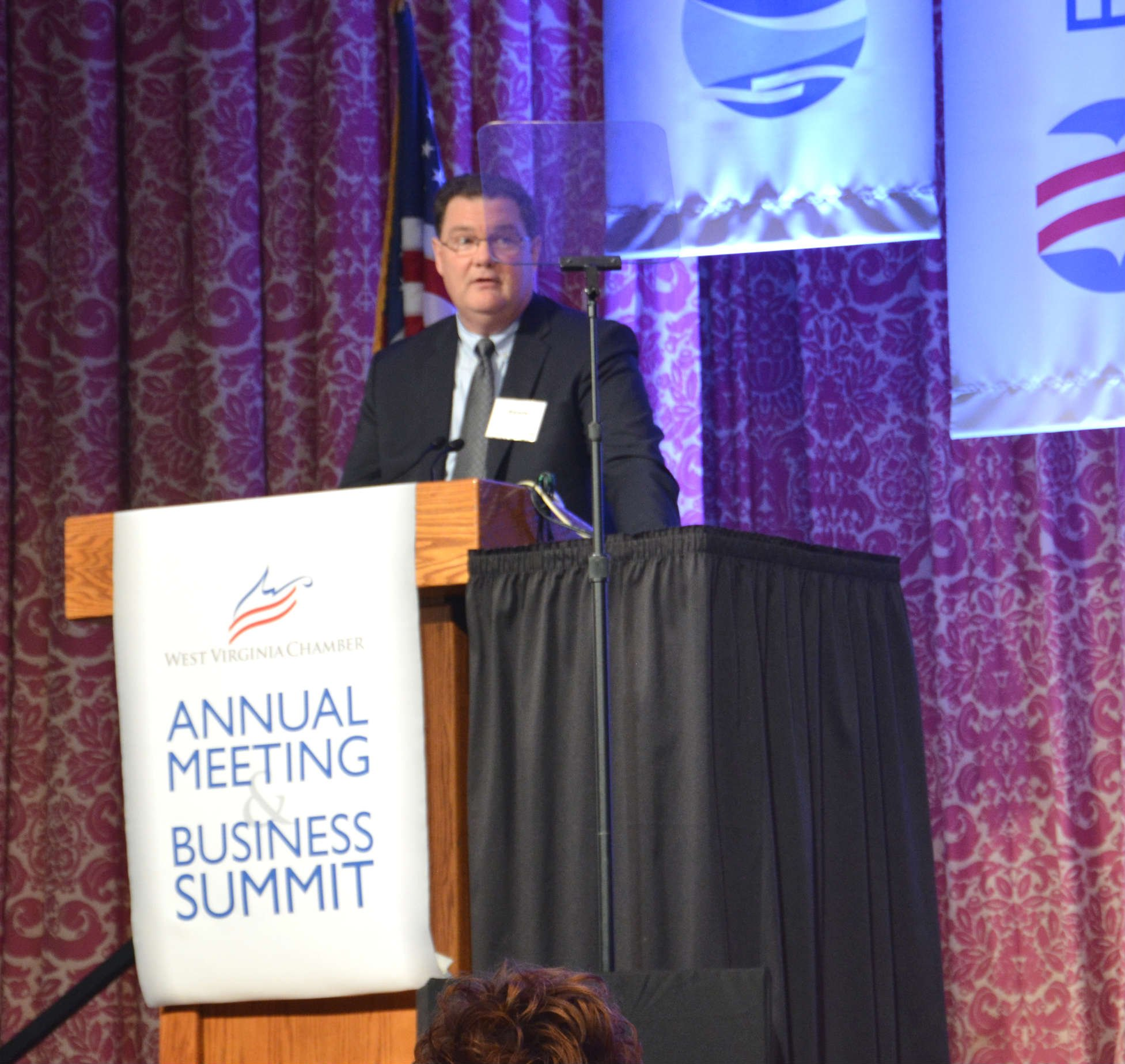 Randy Cleveland, XTO Energy president at the West Virginia Chamber of Commerce Business Summit Aug. 27