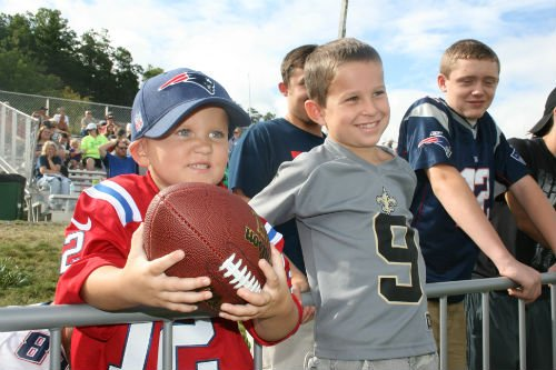 Saints and Patriots fans enjoy training camp at The Greenbrier.
