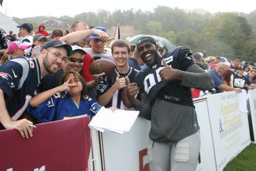 Fans get up close with players during training camp at The Greenbrier.