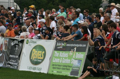 Hundreds of fans flock to training camp at The Sports Performance Center fields at The Greenbrier