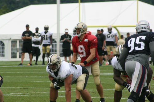 Saints quarterback Drew Brees is a fan favorite during training camp at The Greenbrier.