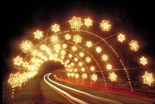Check out the lights at Oglebay Resort and Conference Center ...